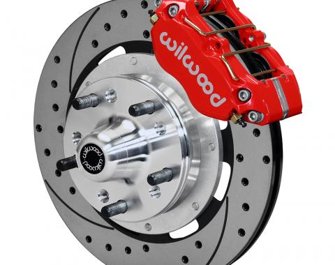 Wilwood Brakes Dynapro Dust-Boot Big Brake Front Brake Kit (Hub) 140-13203-DR