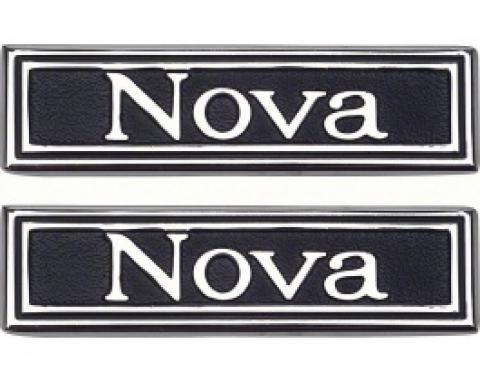 Nova Emblem, Door Panels, 1969-1971