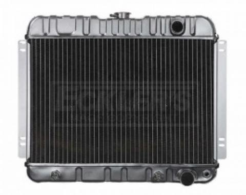 Nova And Chevy II US Radiator, Copper And Brass, Standard Duty, For Cars With V8, Automatic Transmission And Without Factory Air Conditioning, Two Row, 1963-1965