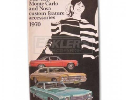 Nova Custom Features Accessory Brochure, 1970