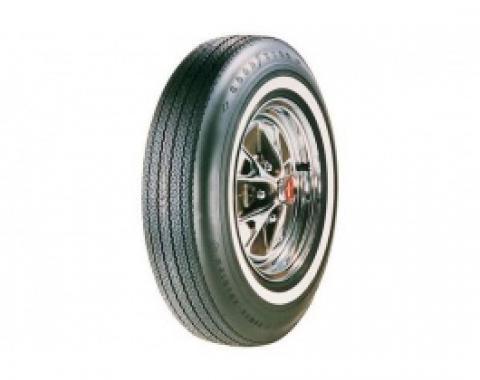 Nova Tire, 6.95/14 With 7/8 Wide Whitewall, Goodyear Power Cushion Bias Ply, 1965-1966