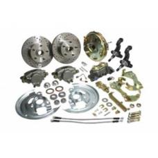 Nova Basic Disc Brake Kit, Front, With 9 Booster 1968-1974