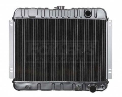 Nova And Chevy II US Radiator, Copper And Brass, Standard Duty, For Cars With V8, Automatic Transmission And Factory Air Conditioning, Three Row, 1963-1965