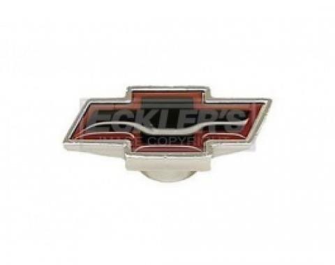 Nova Air Cleaner Cover Wing Nut, Bowtie Logo Shape, Small, Chrome, 1962-1979