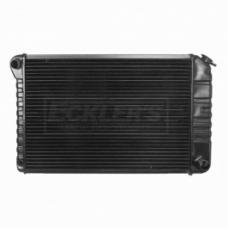 Nova US Radiator, Copper And Brass, Standard Duty, For Cars With 250CI L6 And 262CI And 350CI V8, Manual Transmission, Two Row, 1975-1978