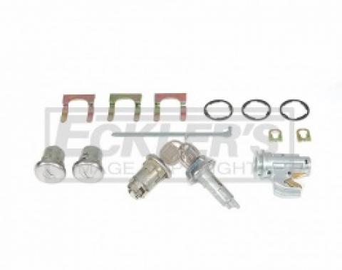 ChevyII-Nova Lock Set, Glovebox, Trunk, Door, With Original Style Keys, 1969-1972