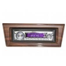 Chevy II-Nova Stereo Radio, KHE-300, AM/FM, Manual Tuning, Black Face, Wood Bezel, 1966-1967
