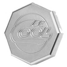 Nova Radiator Cap,Be Cool,Billet,Octogan,Natural Finish