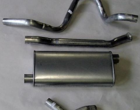 Nova Single Exhaust System Cat Back For 6 Cylinder, V8 Stainless Steel, 1975-1979