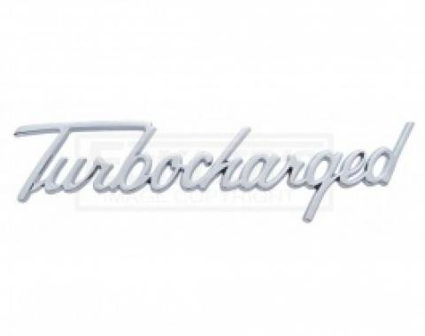 Nova And Chevy II Turbocharged Script Emblem, Chrome, 1962-1979