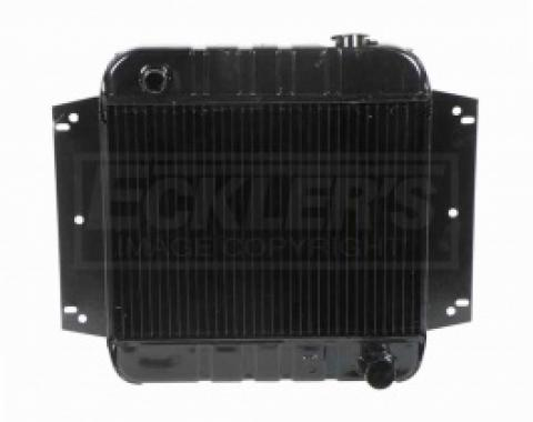 Nova And Chevy II US Radiator, Copper And Brass Standard Duty, Two Row, 153CI L4 Engine And Manual Transmission, 1962-1970