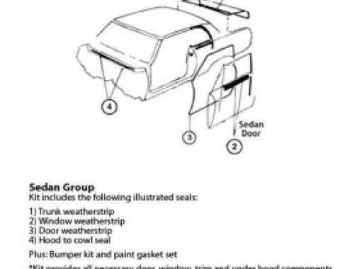 Nova Weatherstrip & Gasket Kit, 2-Door Sedan, 1967