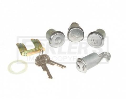 ChevyII-Nova Lock Set, Glovebox, Trunk, Door, With Original Style Keys, 1962-1966
