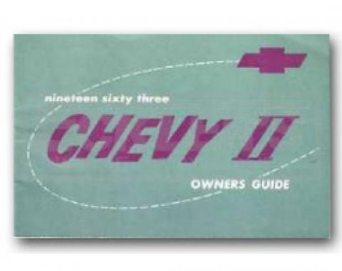 Nova Chevy II Owner's Manual, 1963