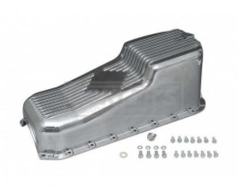 Nova Engine Oil Pan, Small Block, Polished Cast Aluminum, 1970-1979