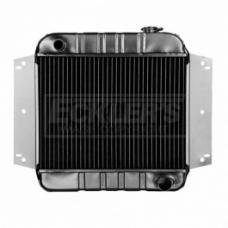 Nova And Chevy II US Radiator, Copper And Brass, Standard Duty, Two Row, 194CI And 230CI L6 Engine And Manual Transmission, Passenger Side Inlet, 1963-1965