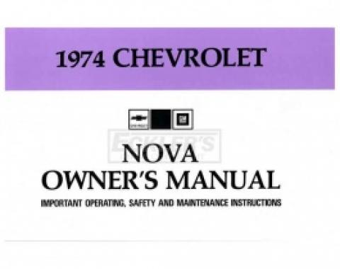 Nova Owner's Manual, 1974