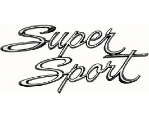 Nova Emblem, Quarter Panel, Super Sport, 1966-1967