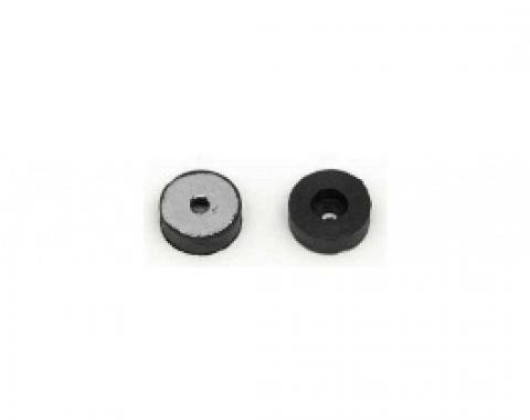Nova Bucket Seat Back Rubber Stoppers, With Metal Inserts & Mounting Screws, 1962-1979