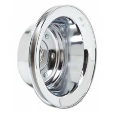 Nova Crank Shaft Pulley, Small Block With Long Water Pump, Single Groove, Chrome 1969-1979