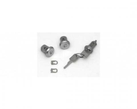 ChevyII-Nova Lock Set, Ignition & Door, With Replacement Style Keys, 1966-1967