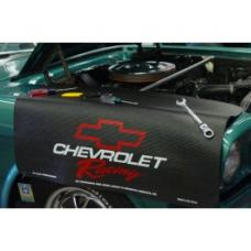 Fender Gripper® Cover, Black With Chevrolet Racing Logo