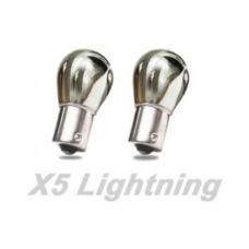 Light Bulbs, 1156, Chrome X5 Lightning Red Silver Stealth