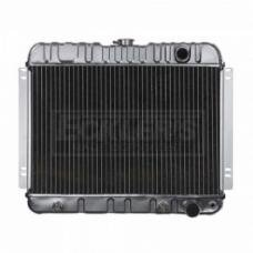 Nova And Chevy II US Radiator, Copper And Brass, Standard Duty, For Cars With V8, Manual Transmission And Without Factory Air Conditioning, Two Row, 1963-1965