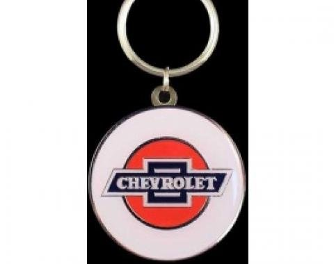 Chevrolet Key Ring, Silver & Epoxy Colors