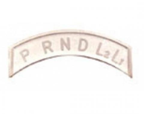 Column Lens, Shift Indicator, TH350 & TH400, Clear Plastic, Nova, 1962-1965