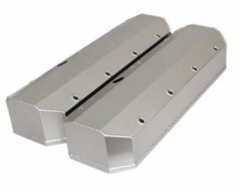 Nova Valve Covers, Fabricated Aluminum, Tall Style With Rails, Big Block, 1965-1972