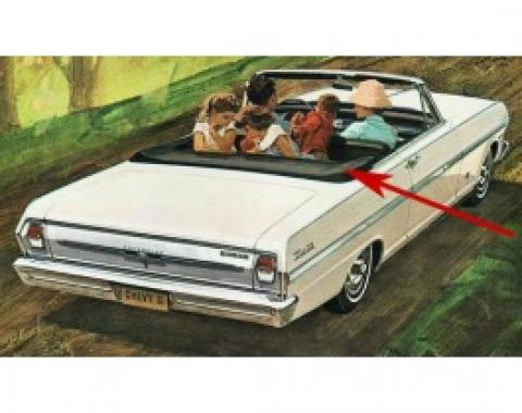 Nova Chevy II, Convertible Top Boot, 1962-1963