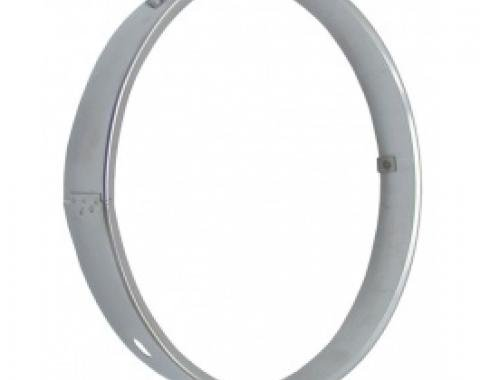 Chevy II-Nova Retaining Ring, Headlamp Seal Beam, Stainless Steel, 1962-1975