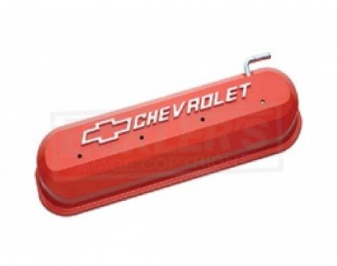 LS V8, Valve Cover, Orange With Raised Emblems