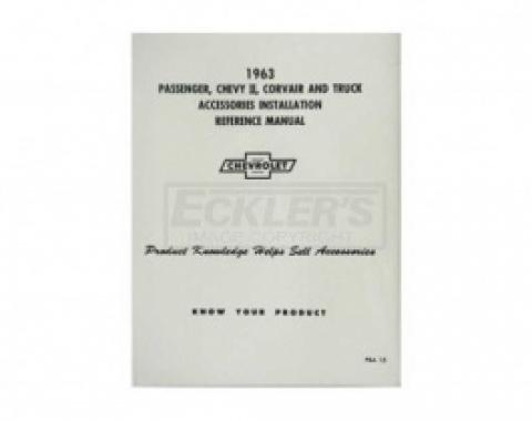 Nova Chevy II Accessories Installation Manual, 1963