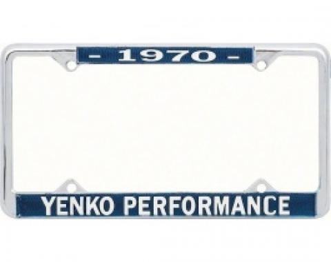 Nova License Frame, Yenko, 1970