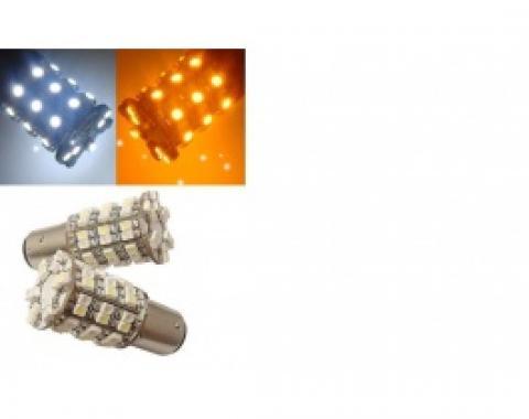 Light Bulbs, 1157, (60) SMD LEDs Hyper White / Amber