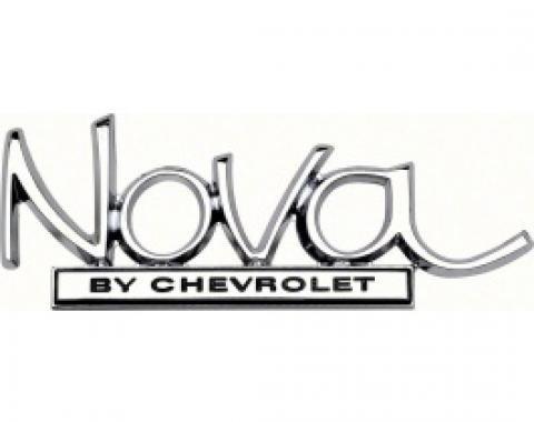 Nova Emblem, Trunk, Nova by Chevrolet, 1969-1972