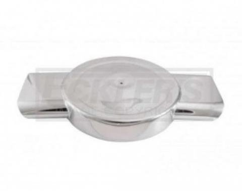 Nova And Chevy II Polished Aluminum Low Profile Air Box For Four Barrel Carburetor, Dual Oval Inlets, 1962-1979