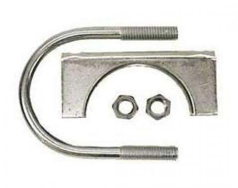 Nova Exhaust Muffler Clamp, Stainless Steel, 2-1/4, 1962-1979