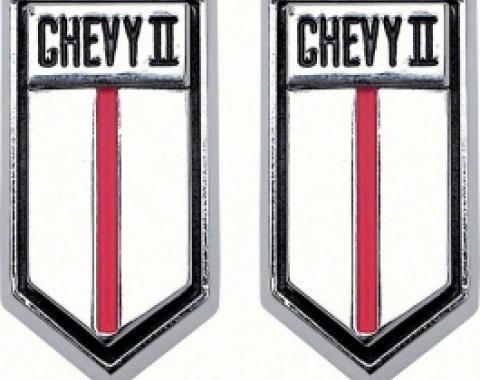 Nova Emblem, Door Panels, Chevy II, 1966-1967
