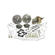 Nova Power Disc Brake Conversion Kit, Complete, Front, 9 Booster, Stock Spindle, 1962-1964