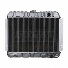 Nova And Chevy II US Radiator, Copper And Brass, Standard Duty, For Cars With V8, Manual Transmission And Factory Air Conditioning, Three Row, 1963-1965