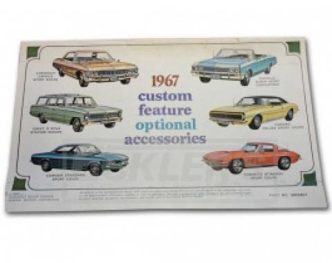 Nova And Chevy II Custom Features Optional Accessory Book, 1967