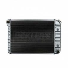 Nova US Radiator, Copper And Brass, Standard Duty, For Cars With Small Block 307CI And 350CI, Automatic Transmission, Three Row, 1972-1974