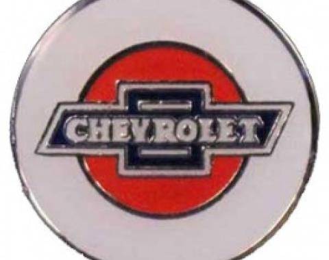Chevrolet Lapel Pin, Silver & Epoxy Colors