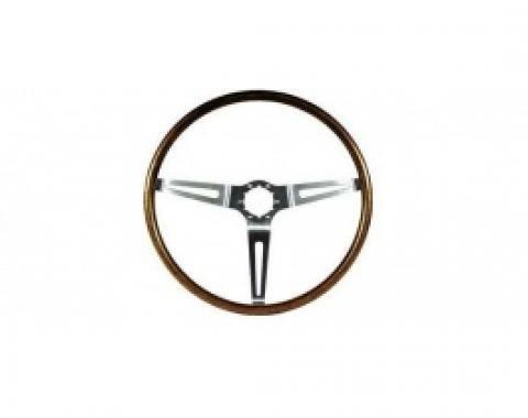 Nova Steering Wheel, Deluxe Wood, Walnut, 1967-1968