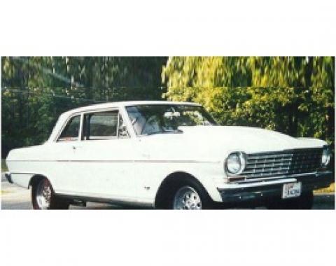 Nova Hood,Cowl Induction, 4, Fiberglass, 1962-1965