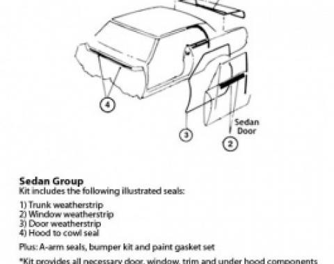 Nova Weatherstrip & Gasket Kit, 2-Door Hardtop, 1971-1972