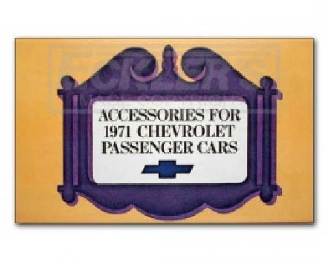Nova Accessory Book, 1971